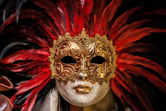 Luxusní karnevalová maska